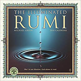 the illuminated rumi 2019 wall calendar