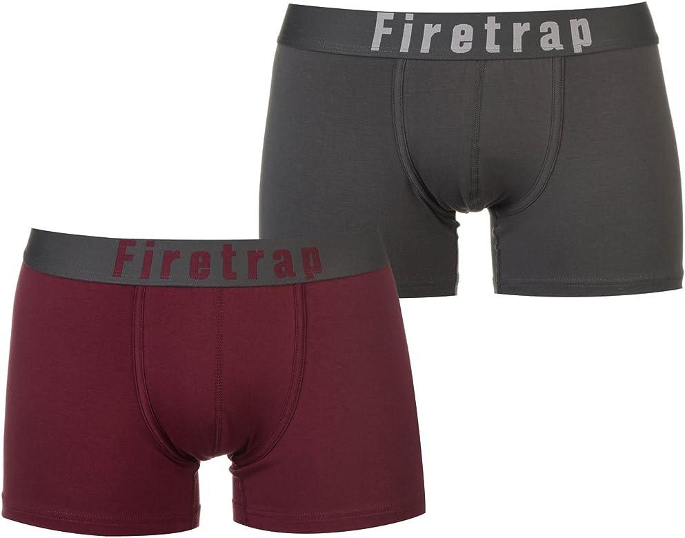 Firetrap Hombre 2 Pack Bóxers Ajustados: Amazon.es: Ropa y accesorios