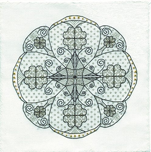 Blackwork Rose - 7