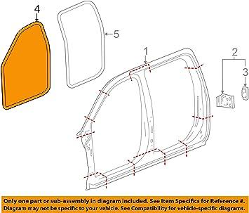 GM 23253025 WEATHERSTRIP ASM-FRT S//D LWR AUX