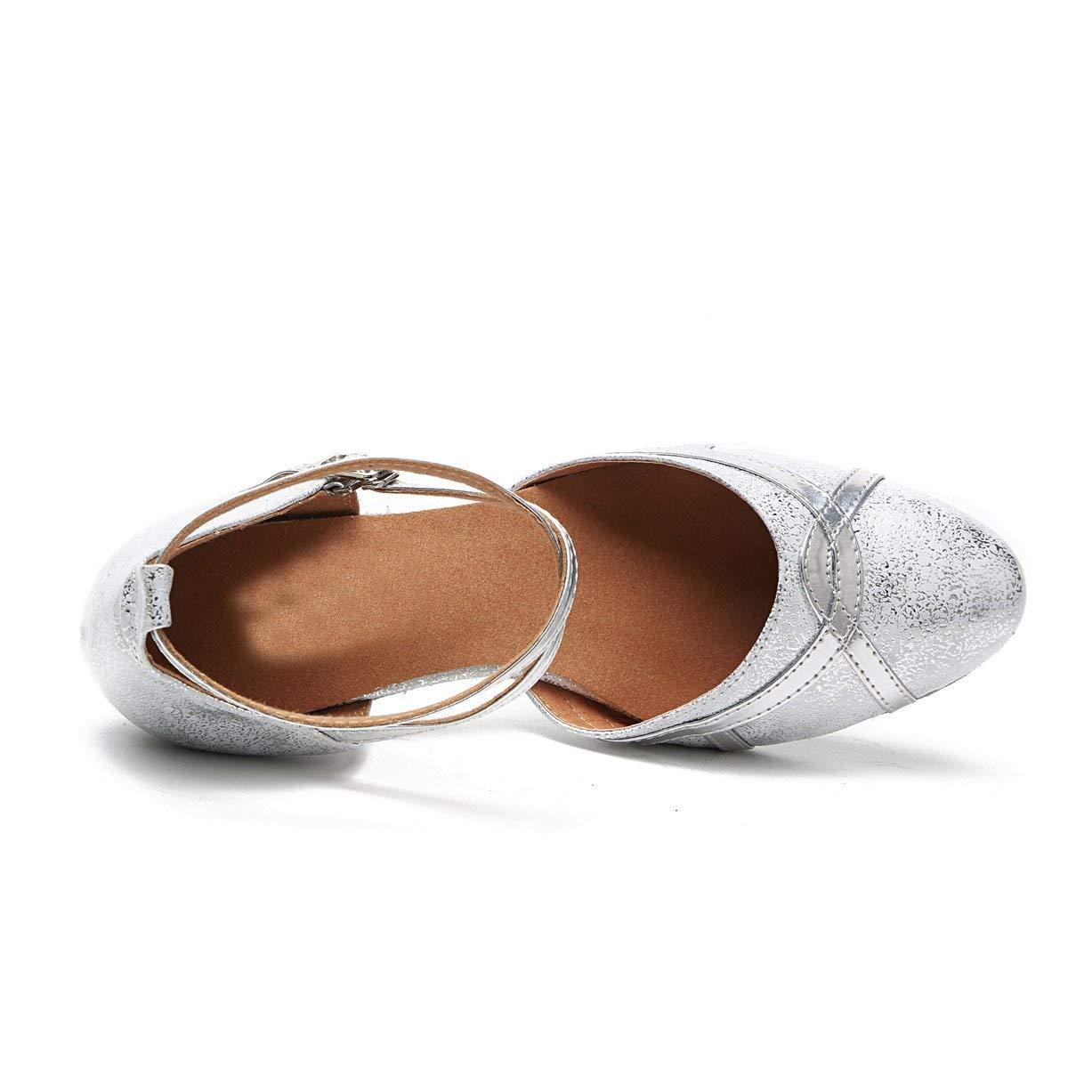 Fuxitoggo Frauen 2,5 Heel Silber Synthetische Latin Latin Latin Salsa Tanzschuhe Hochzeit Pumps UK 6,5 (Farbe   -, Größe   -) 34597a