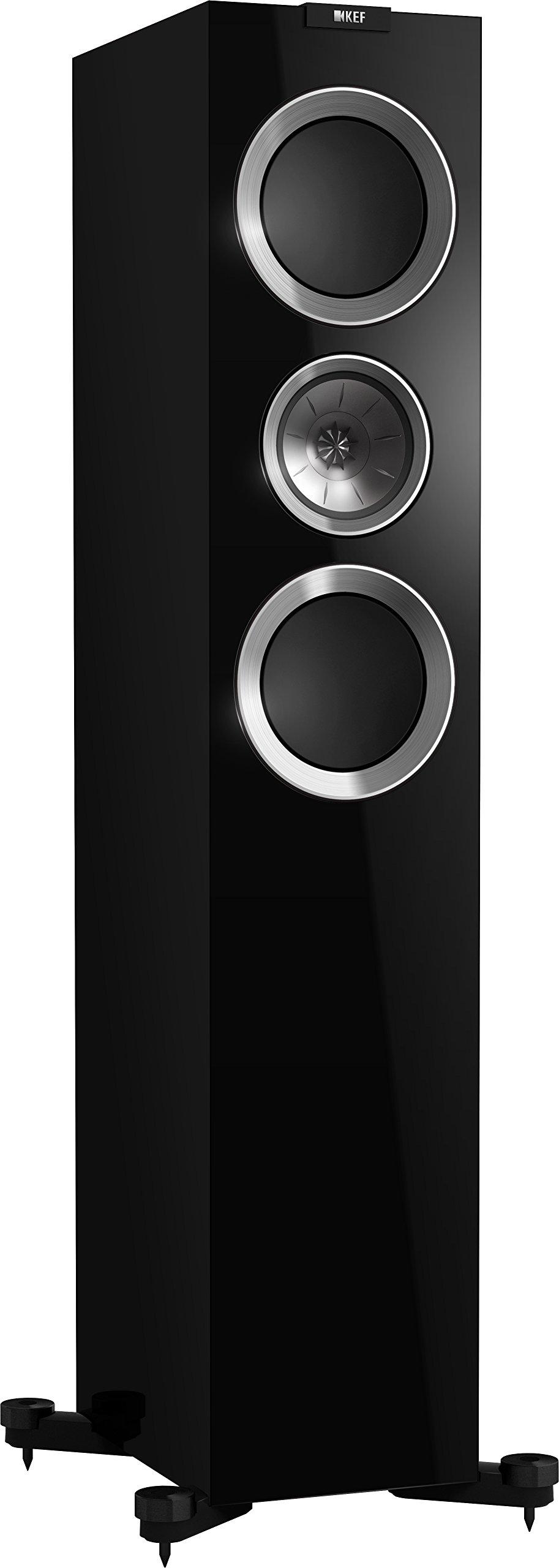 KEF R700 Floorstanding Loudspeaker - High Gloss Piano Black (Pair)