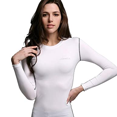 ATHLETE Smart - Sports Womens Ladies Long sleeve Top T-shirt Base Layer  Lightweight Compression bc27cf4f91