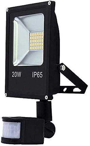 Proyector LED con sensor de movimiento 50W Foco LED blanco cálido ...