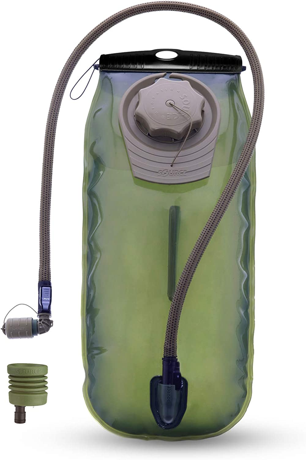 Source Hydration Bladder WXP Upgraded Kit - Kit Includes 3 Liter (100oz) Low Profile Water Bladder and UTA Adaptor for Fast Blader Refill