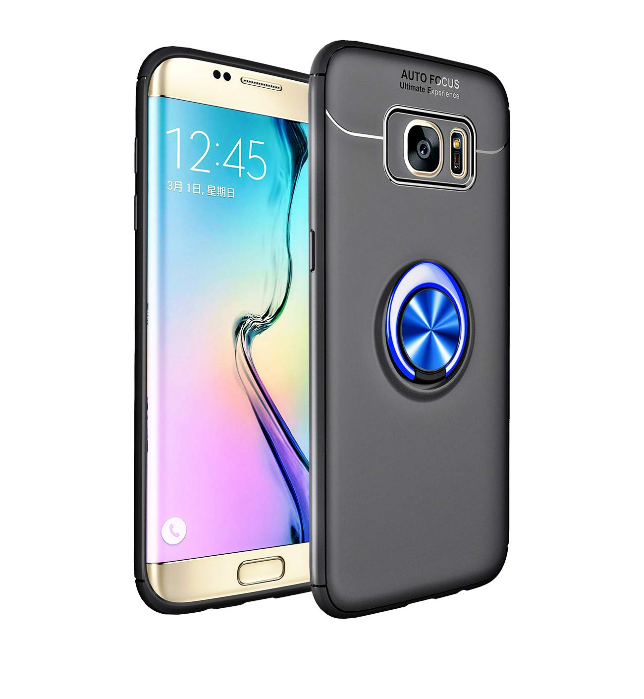Heavy Armor Galaxy S7 Edge Case Ring Holder Kickstand Magnetic Base Dual Layer Car Mount Rotable Dual Layer Protective Hard Shell PC Bumper Galaxy S7 Edge (4, Galaxy S7 Edge) by 54lany