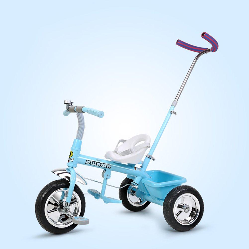 XQ 耐衝撃性 子供 1-3歳 トロリー ベビーキャリッジ 子ども用自転車 ( 色 : 青 ) B07C6Q6VHM 青 青