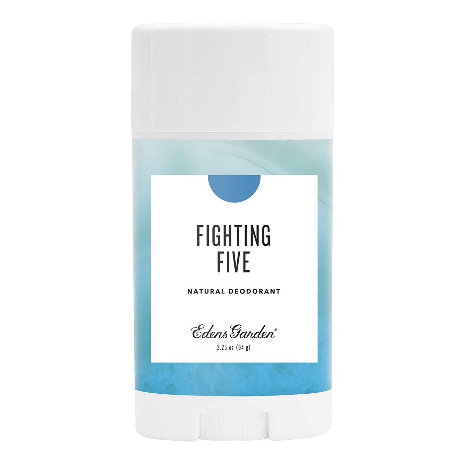 Edens Garden Fighting Five Natural Deodorant, Aluminum & Baking Soda Free (For Normal & Sensitive Skin), Made With Essential Oils, Vegan, For Men & Women, 2.25 oz