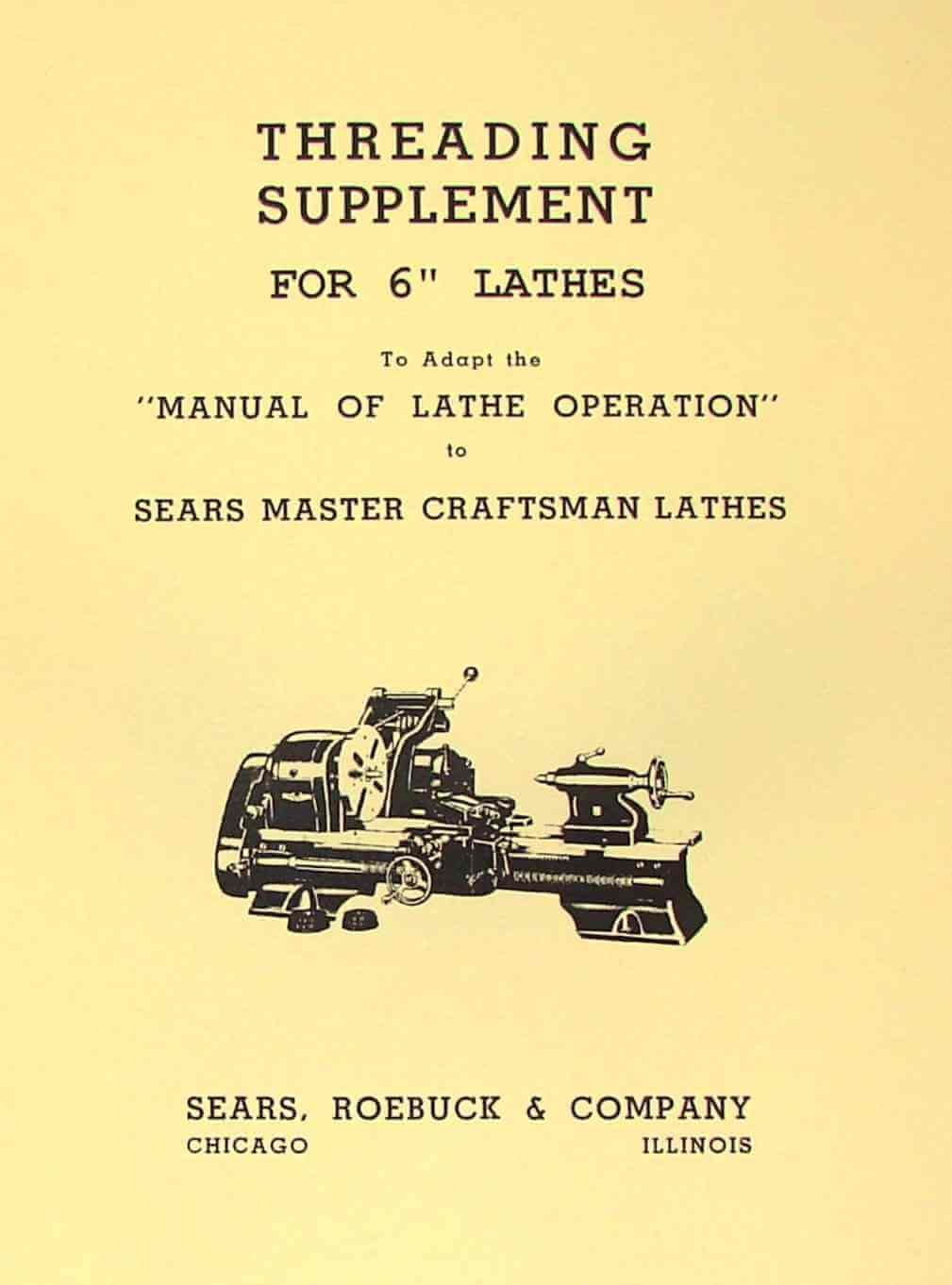 "ATLAS-CRAFTSMAN 6"" Metal Lathe Threading Operations Manual: Misc.:  Amazon.com: Books"