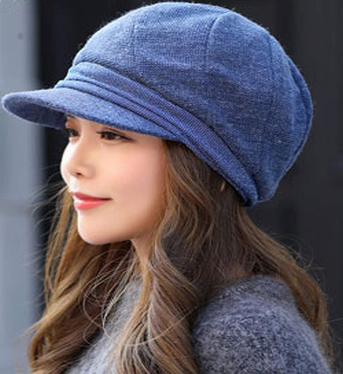 chuckwei Newsboy Hat Beret Hat Fedora Wool Blend Cap Collection Hats Cabbie Visor Cap