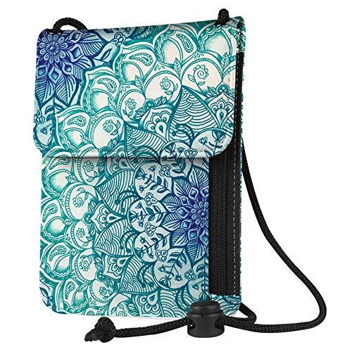 Mikash Passport Holder Neck Pouch RFID Blocking Premium PU Leather Travel Wallet | Model TRVLWLLT - 1047 |