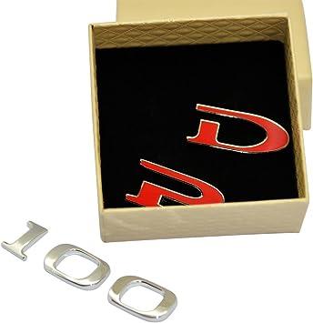 P100D DELEIKA Customized Stereoscopic P100D P90D metal Sticker for Tesla Model S Model X automotive Decals Decorative Emblems A Set of 5