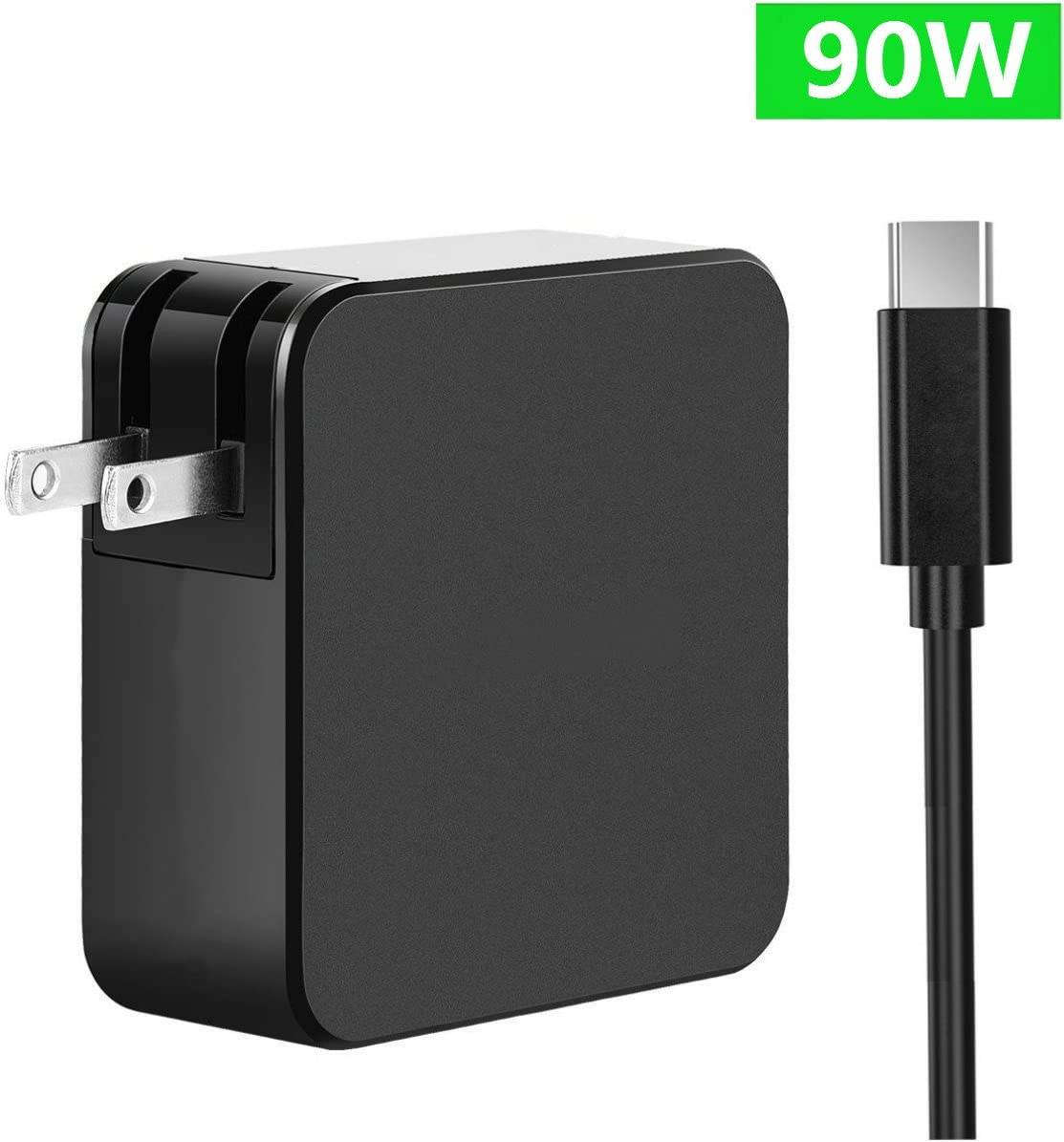 """USB C Type C Wall Charger for MacBook 2015/2016/MacBook Pro 12""""/13""""/15""""/ HP Spectre 13.3 inch/Dell XPS15 9550/Razer Blade/Nintendo Switch and More"""