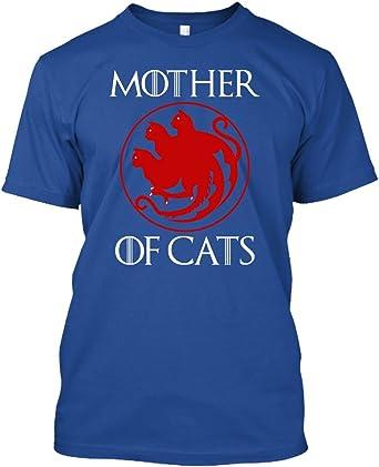 Madre de gato gatos camiseta, camiseta para mujer, camiseta divertida gato: Amazon.es: Ropa y accesorios