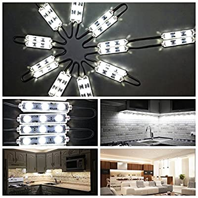 Under Cabinet Lights,10ft 60leds warm white Closet Kitchen Counter LED light with Brightness Dimmer