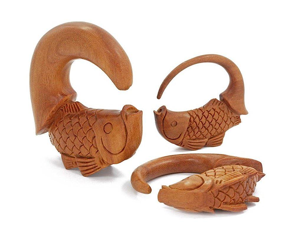 Price Per 1 Elementals Organics KOI Fish Goldfish Saba Wood Hanger