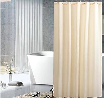 QWM Dicker Mode Solide Creme Farbe Badezimmer Duschvorhänge Liner,  Polyester Wasserdicht Und Schimmelresistent Anti