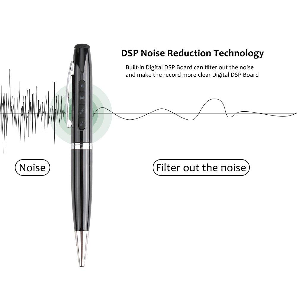 8 Gb Speicher Digital Voice Recorder Audio Sound Aufnahme Stift U Festplatte Größe Builit-in Batterie Super Mini Micro Espia Diktiergerät Tragbares Audio & Video