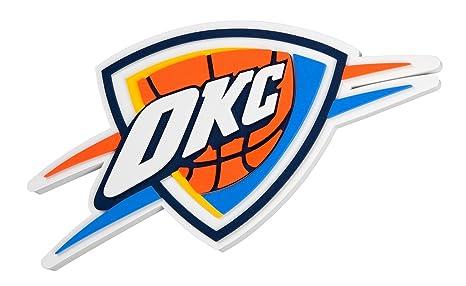 40dbbc74364 Amazon.com : FanFave NBA Oklahoma City Thunder 3D Foam Wall Sign, 20 ...