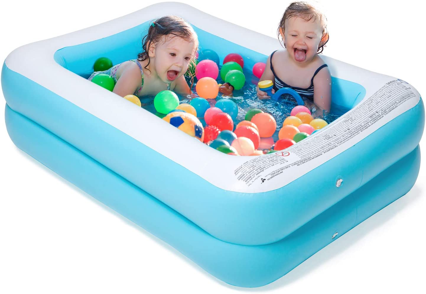 Chiclist Inflatable Kiddie Pool 61 X42 X18 Baby Pools Swim For Kids Inflatable Pool For Kiddie Kids Easy Set Swimming Pool For Backyard Summer Outdoor Kitchen Dining