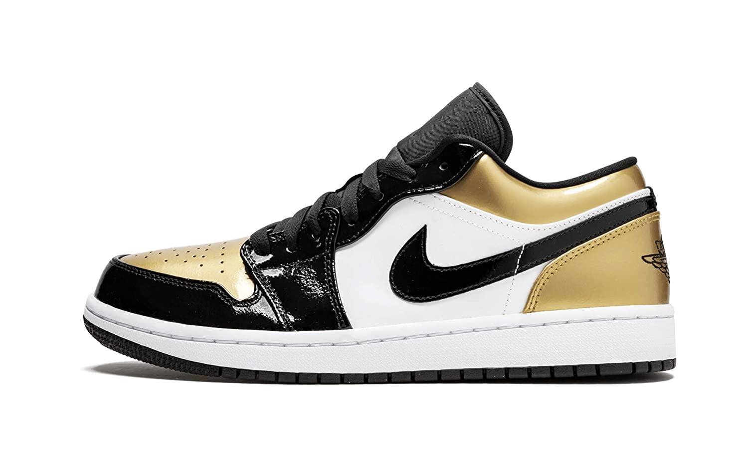 Amazon.com   Jordan Air 1 Low (Black/Gold-Black 10)   Basketball
