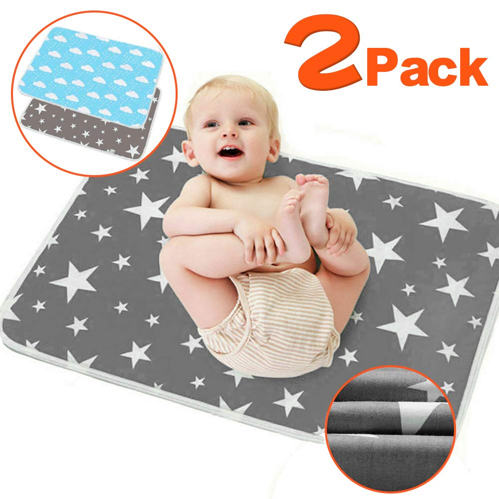 wasserfest faltbar gro/ß neutral 2er-Pack Wickelunterlage f/ür Babys und Kleinkinder waschbar faltbar tragbar faltbar f/ür Neugeborene und Kleinkinder
