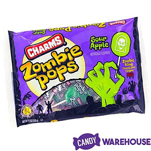 Charms Sour Apple Zombie Pops: 15-Piece
