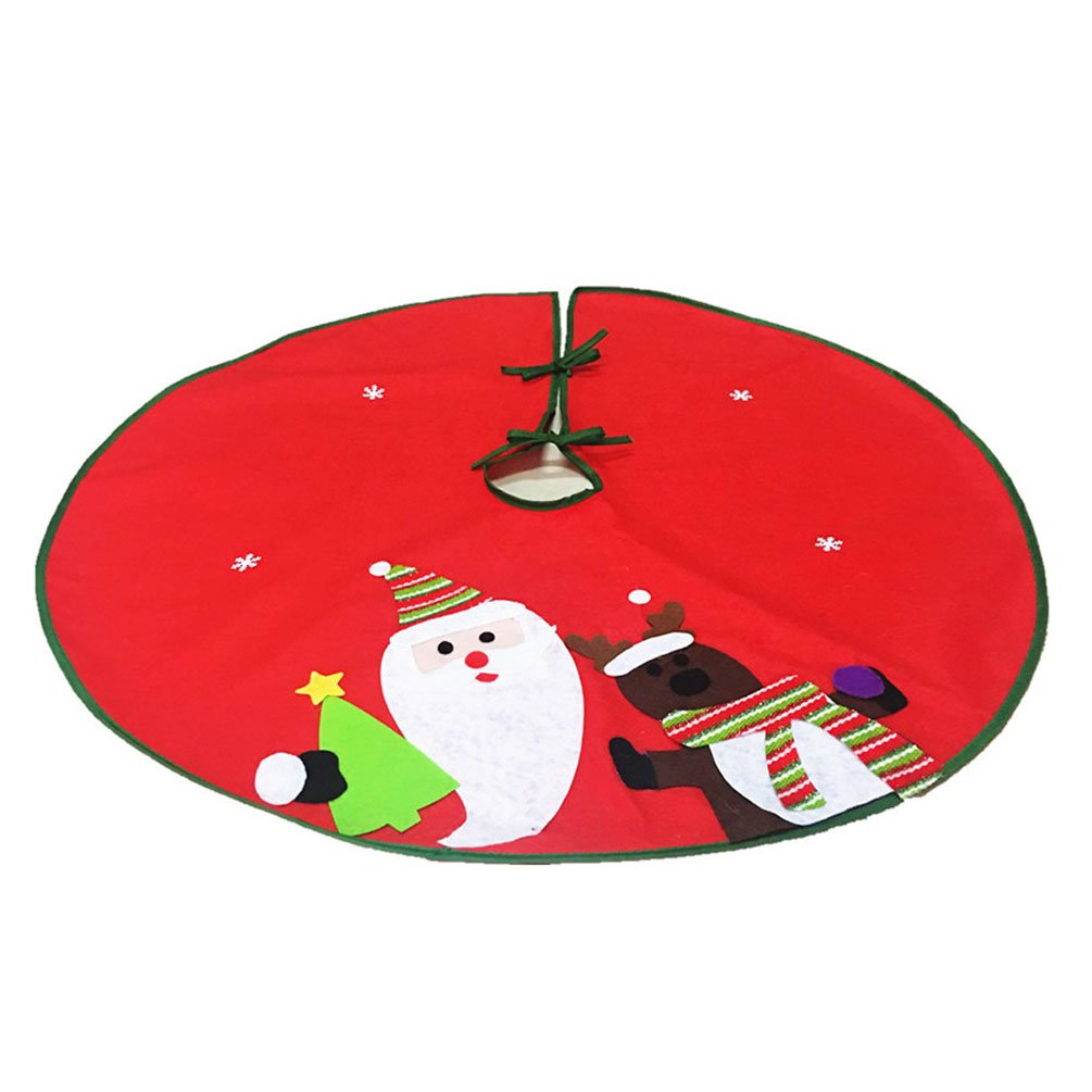 Christmas Tree Skirt Base Cover Xmas Decorations 90CM Love^_^Future