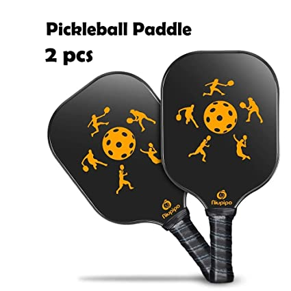 Bowbof - 2 PCS Graphite Pickleball Paddles Carbon Fiber Face ...
