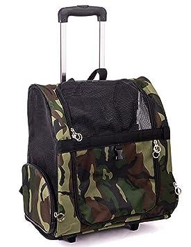 fundodo Pet Carrier Bolsa de polietileno con ruedas para dj, diseño de camuflaje para perros y gatos: Amazon.es: Productos para mascotas