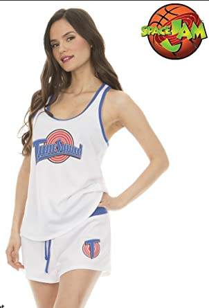 Amazon.com  Space Jam Tune Squad Women s Tank and Shorts Costume ... 29146dec06