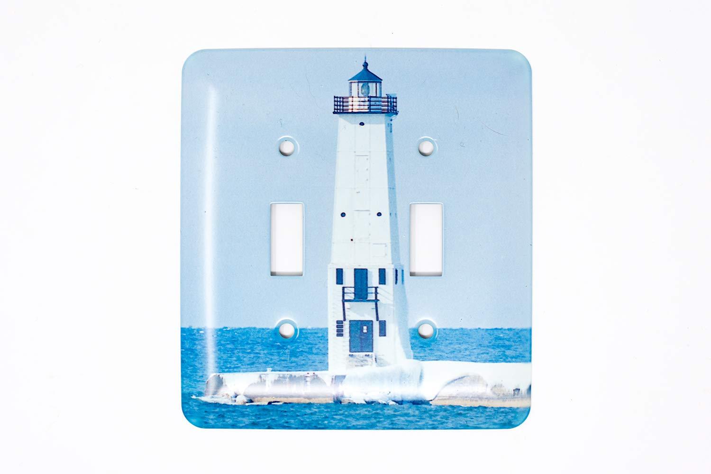 Amazon com: Frankfort Michigan Lighthouse Winter Light