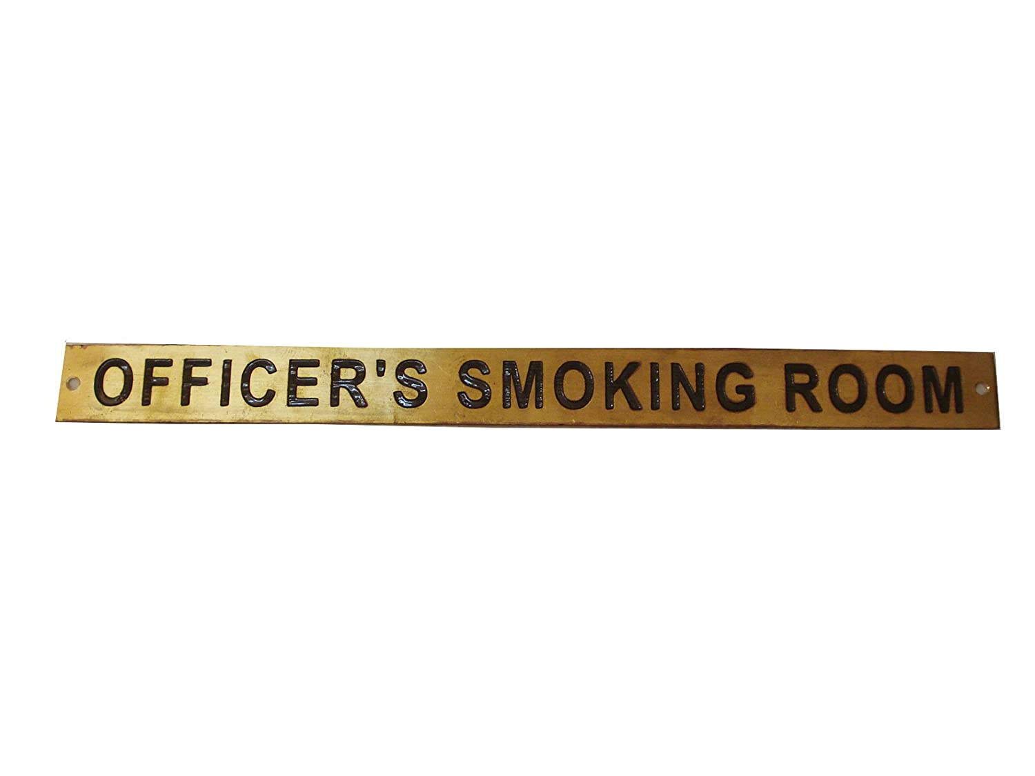 Marine Brass Door Sign 260 Officer/'S Smoking Room Boat//Nautical 12 x 1 Inches