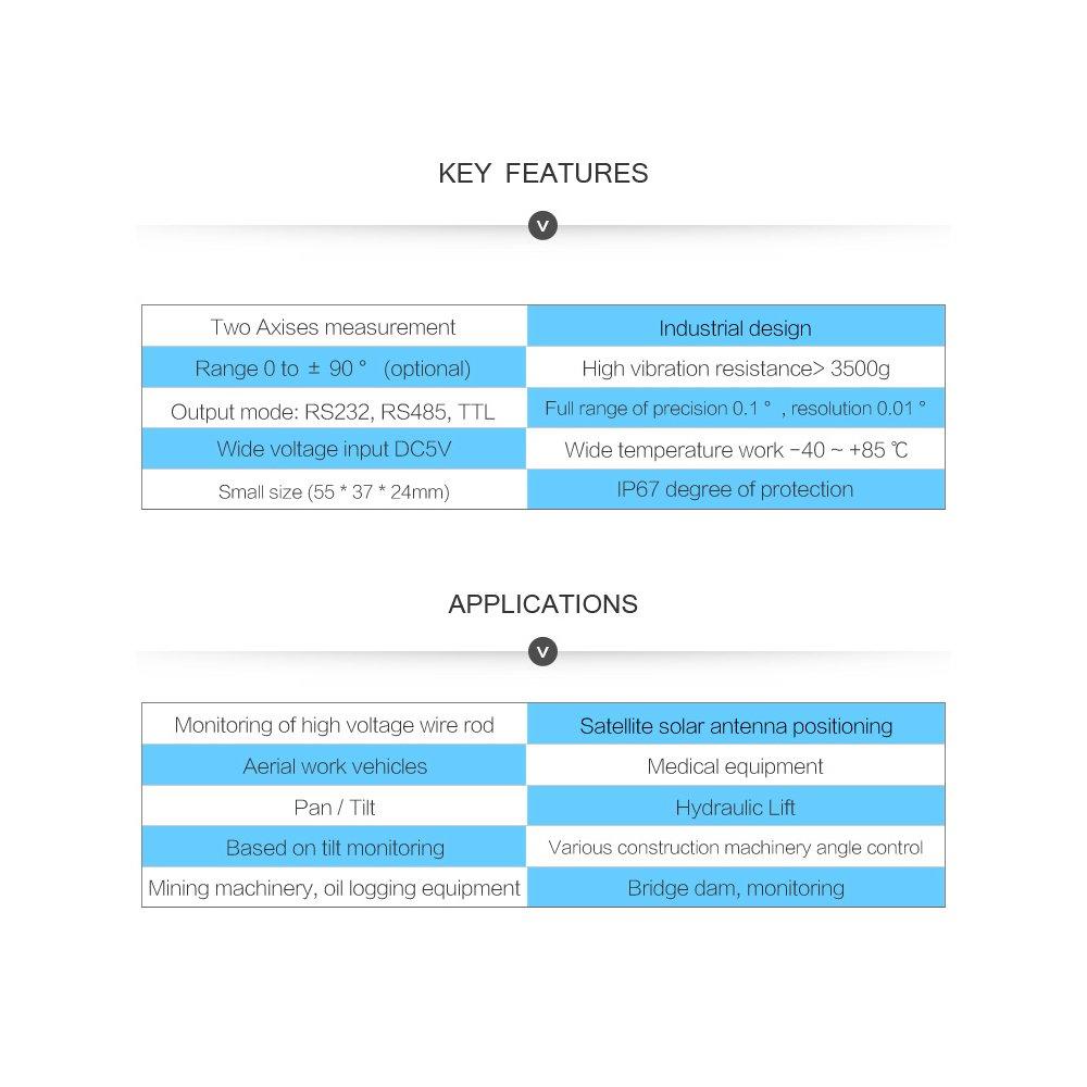 SINDT Dual - axis digital angle sensor angle sensor: Amazon.co.uk ...
