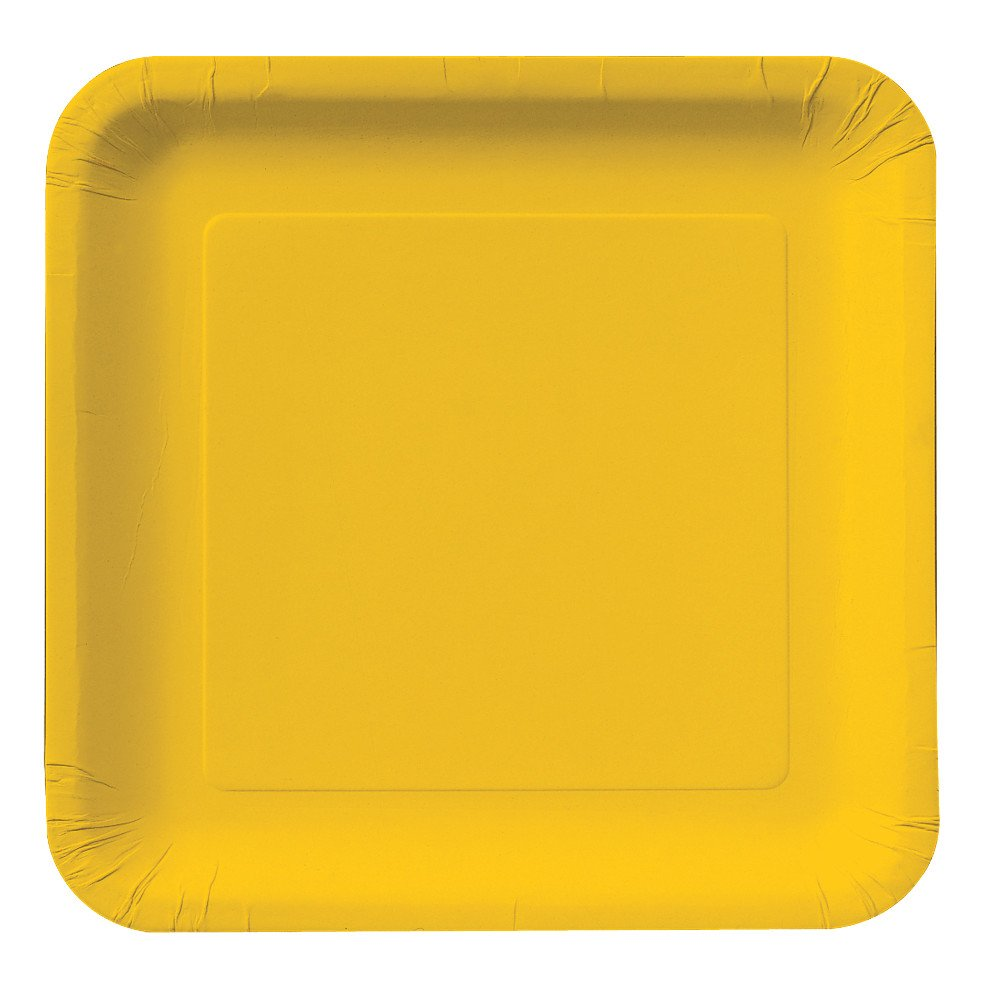 Amazon.com Creative Converting Touch of Color 18 Count Square Paper Dinner Plates School Bus Yellow Kitchen \u0026 Dining  sc 1 st  Amazon.com & Amazon.com: Creative Converting Touch of Color 18 Count Square Paper ...