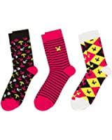 Minecraft - Pink Three Pack of Socks
