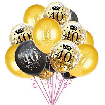 Oblique Unique - Globos de Confeti para 40 cumpleaños ...