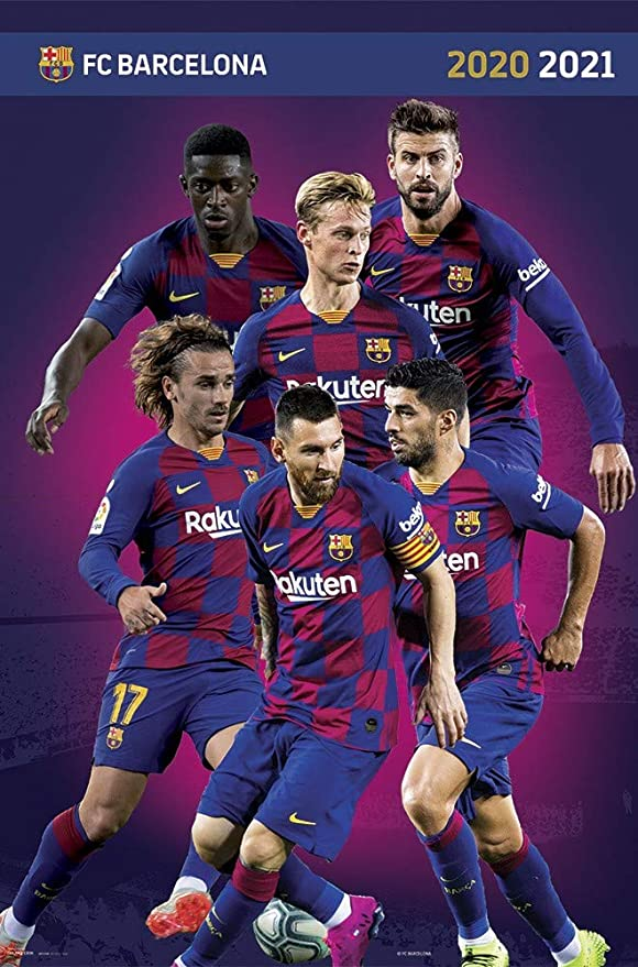 fc barcelona 2020 2021 lineup sports poster 24 x 36 inches amazon ca home kitchen fc barcelona 2020 2021 lineup sports poster 24 x 36 inches
