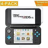 Nintendo 2DS XL Protection écran [2 x Verre Supérieur + 2 x Verre Inférieur], CAVN HD Verre Trempé pour Nintendo 2DS XL, [Dureté 9H] [Très Réactif] [Résistant Aux Rayures] [Couverture Complète]