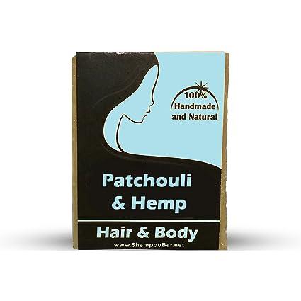 Champú de aceite de cáñamo Patchouli – Ingredientes naturales – barra de champú de pachuli –