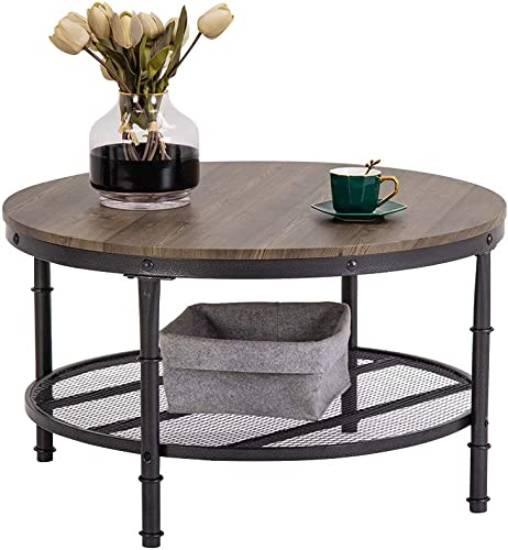 "Bonnlo 31.5"" Industrial Coffee Table"
