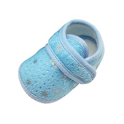 Moresave , Chaussures premiers pas pour bébé (fille) - bleu - bleu,