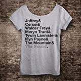 Arya's List Game of Thrones T Shirt. Slouchy, Off The Shoulder, Sexy Top! Tunic Length Tee Great for Leggings! Plus Sizes Available!