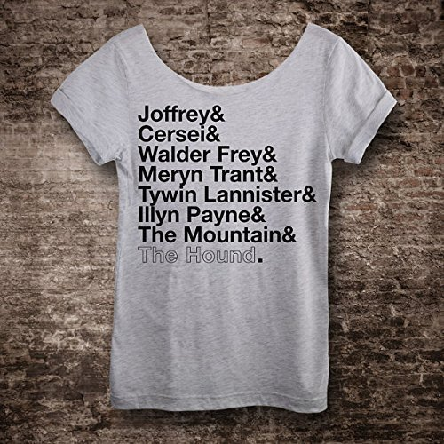 fd5d851e64d Image Unavailable. Image not available for. Color  Arya s List Game of Thrones  T Shirt. Slouchy ...