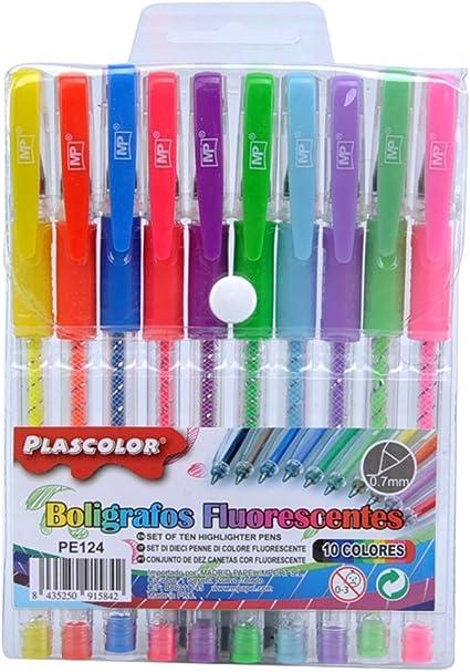Plascolor PE124 - Pack de 10 boligrafos: Amazon.es: Oficina y ...