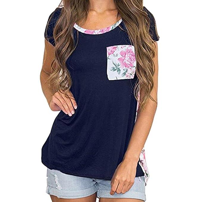 ASHOP Camisetas Muje, Camisetas Manga Corta Mujer Tallas Grandes EN Oferta Suelto Tops Blusas de