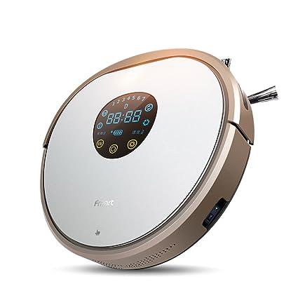 Fmart Robot Aspirador Automático Robot Aspirador con Fuerte succión y Filtro de HEPA UV esterilice Carga