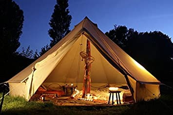 DANCHEL Stand Canvas Bell Tents 20ft 6M /teepee with Carry Bag khaki Sheet and Hole & Amazon.com : DANCHEL Stand Canvas Bell Tents 20ft 6M /teepee with ...