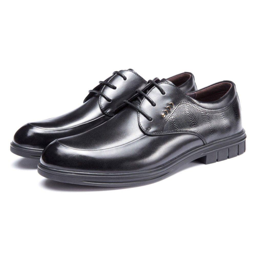 Yra Herren Geschäft Kleid Schuhe Schuhe Schuhe Derby Schuhe Leder Hochzeit Schuhe Lace-Up Geschäft Für Walking Party schwarz 1d19a2