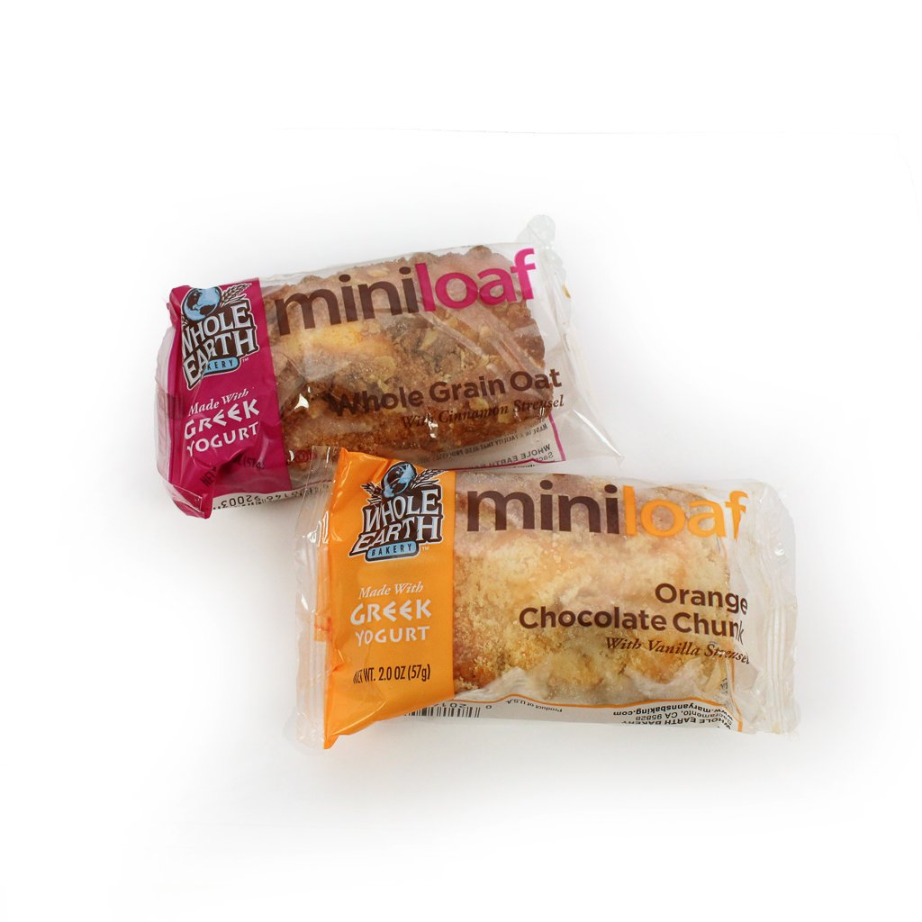 Whole Earth Bakery Mini Muffin Loaf Variety, (Pack of 96)